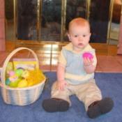 Grandson and Easter Basket