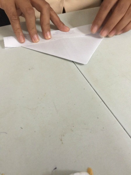 Folded Paper Box - folding up other side