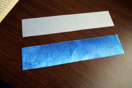 Punched Paper Bookmark - cut card for backing the size you want and cut a piece of paper the same size