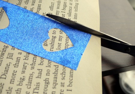 Punched Paper Bookmark - Once the glue has dried, trim all around using scissors, or a guillotine if you have one.