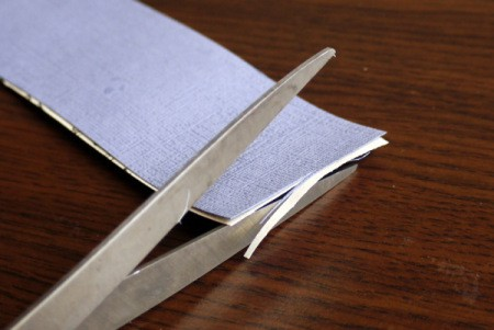 Punched Paper Bookmark - Trim off any uneven parts and round off the corners.