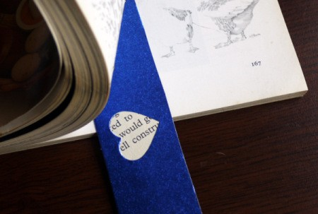 Punched Paper Bookmark - Be sure that the glue is well dried before using your bookmark.
