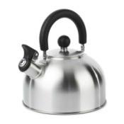 Stainless stovetop whistling tea kettle