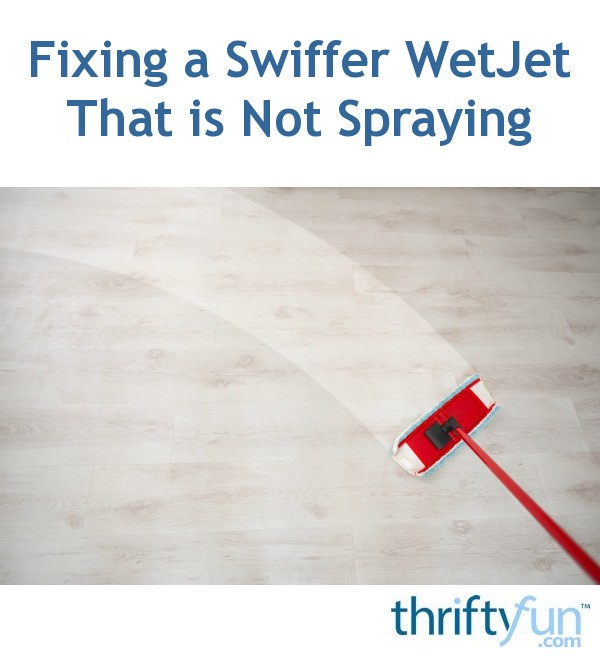 how to work a swiffer wet jet