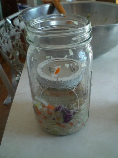 jelly jar in wide mouthed quart jar