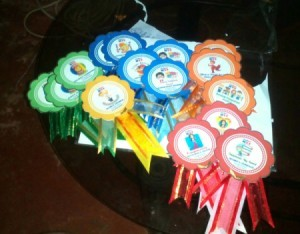 DIY Award Ribbons - array of finished ribbons