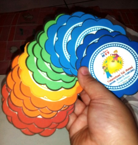 DIY Award Ribbons - Cut out the shape of the printed ribbon head.