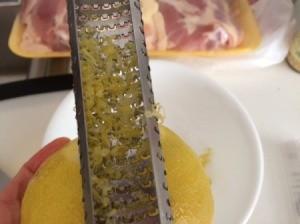 A zester full of lemon zest.