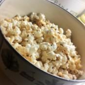 Best Stovetop Popcorn in bowl