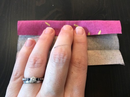 Fabric Cover for Baby Gate - finger press