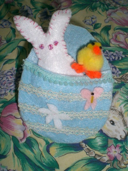 Spring Magnet or Easter Basket Decoration