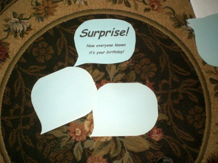 Photo Cutouts for Any Party - extra bubbles for guests to create their own sayings