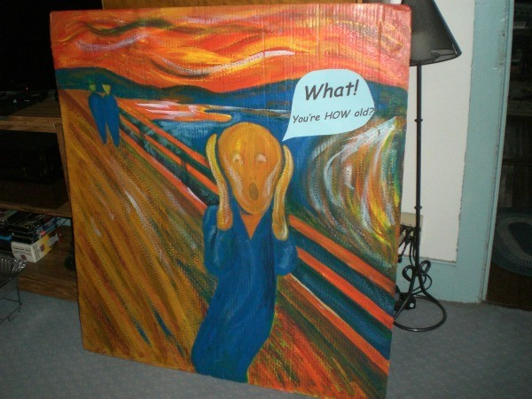 Photo Cutouts for Any Party - The Scream with speech bubble