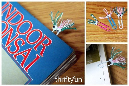 Hairy Monster Paperclip Bookmarks