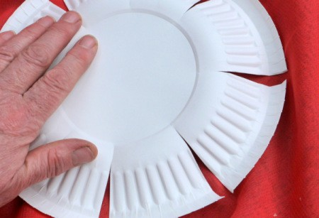 Paper Plate Flower - press on center of plate after turning to back side