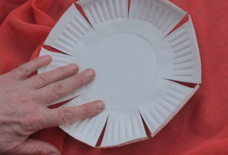 Paper Plate Flower - plate turned inside out to cause petals to stand out