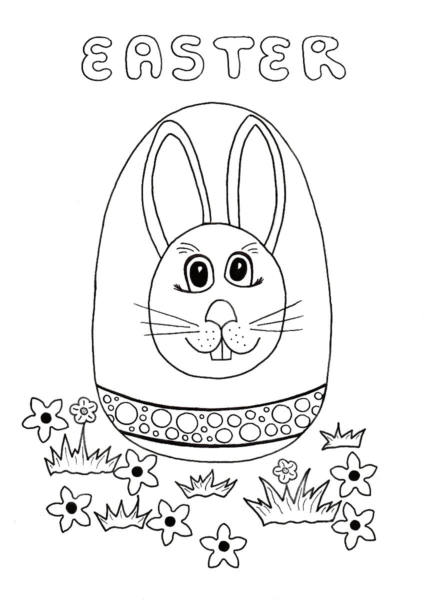 Easter Egg Hunt Kids' Coloring Page   ThriftyFun