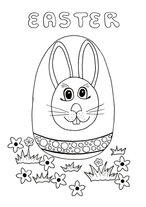Easter Egg Hunt Kids Coloring Page ThriftyFun