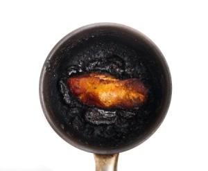 Burnt Stainless Steel Pan