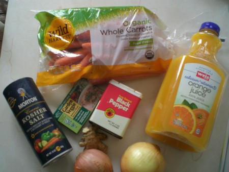 Carrot Ginger Soup ingredients