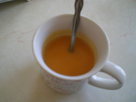 cup of Carrot Ginger Soup