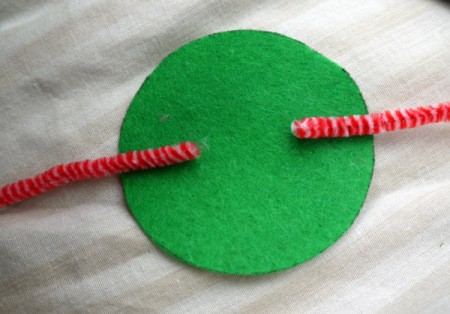 One Eyed Monster Badge - glue on two pieces of pipe cleaner