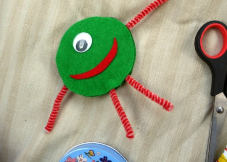 One Eyed Monster Badge - stick mouth to monster
