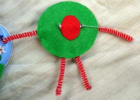 One Eyed Monster Badge - glue over bar of pin back