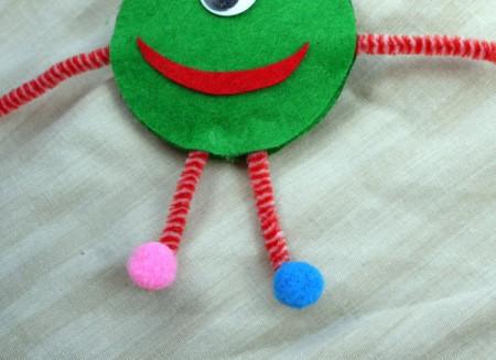 One Eyed Monster Badge - glue on pom poms