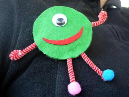 One Eyed Monster Badge - cute monster brooch