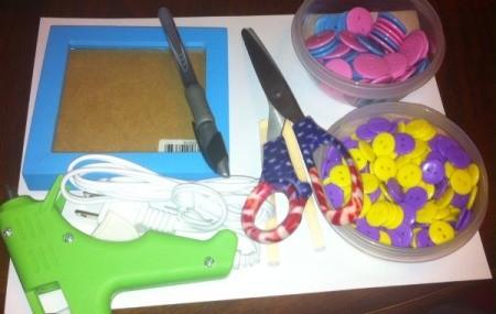 Button Flowers - supplies