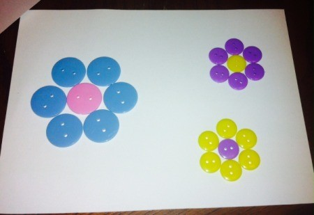 Button Flowers - for a classroom project simply glue to cardstock