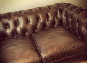 Faded Leather Couch