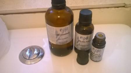 Essential Oils to Freshen the Bathroom - bottles of essential oils