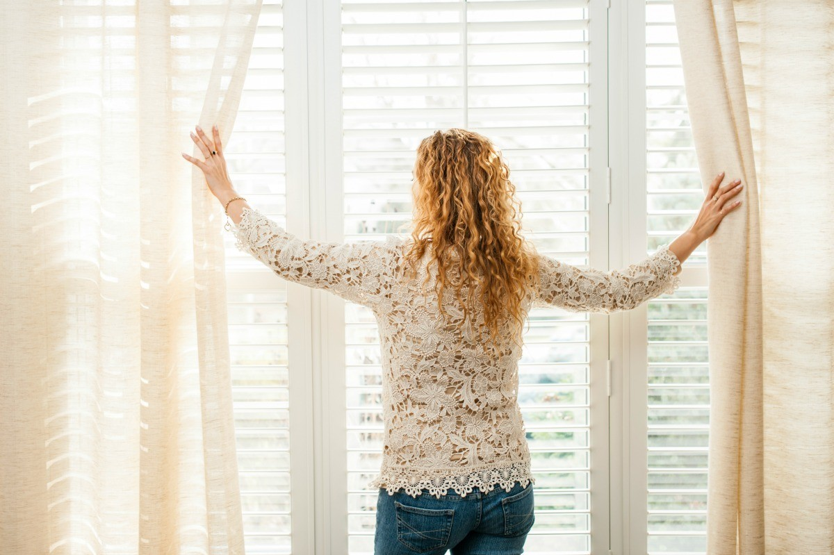Hanging Curtains Over Wooden Blinds Thriftyfun