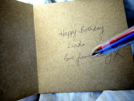 Greetings Card With Stickers - write your greeting inside