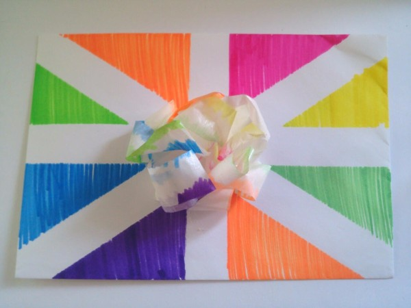 Birthday Card Envelope With Masking Tape Bow Thriftyfun
