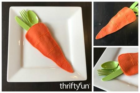 Felt Carrot Utensil Holder