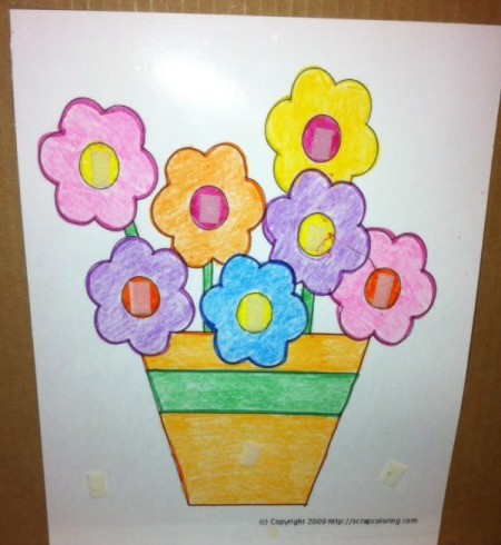 Spring Flowers Fine Motor -Coloring and Velcro Activity - print and have child color flower page, laminate, then add Velcro to center of flowers and elsewhere if desired