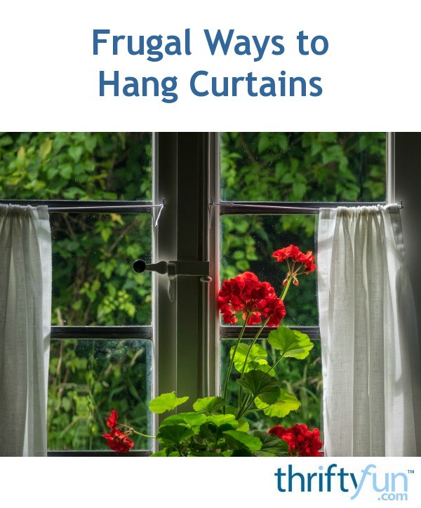 Frugal ways to hang curtains thriftyfun - Pictures of different ways to hang curtains ...