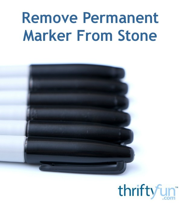 Remove Permanent Marker From Stone | ThriftyFun