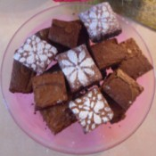 brownies on plate