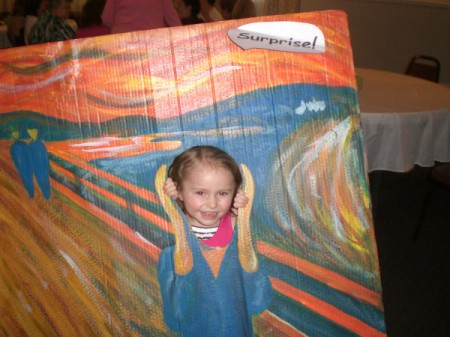 Photo Cutouts for Any Party - The Scream with child