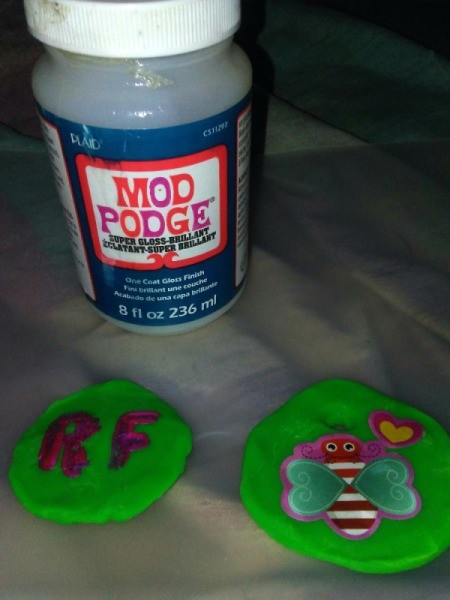 Mod Podge to Preserve Play Doh Creations - Play Doh after decorating