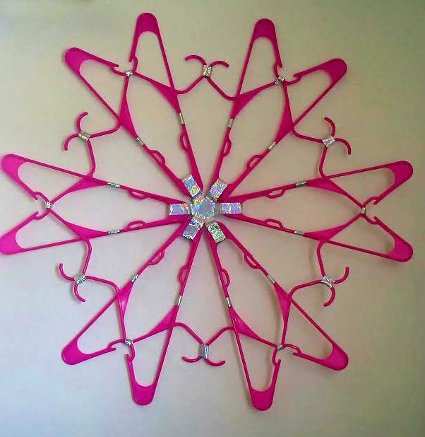 How To Make A Clothes Hanger Wall Decoration Thriftyfun