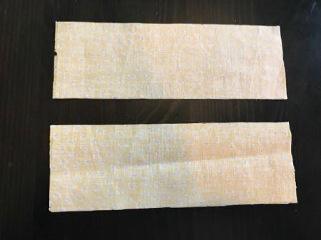 Fabric Chicken Doorstop - cut strips for legs