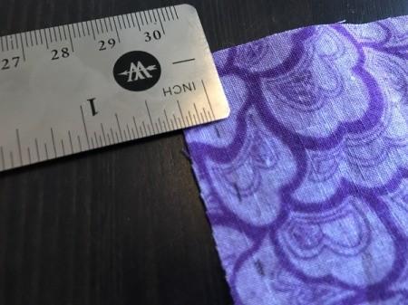 Fabric Chicken Doorstop - mark 1/4 inch seam with ruler