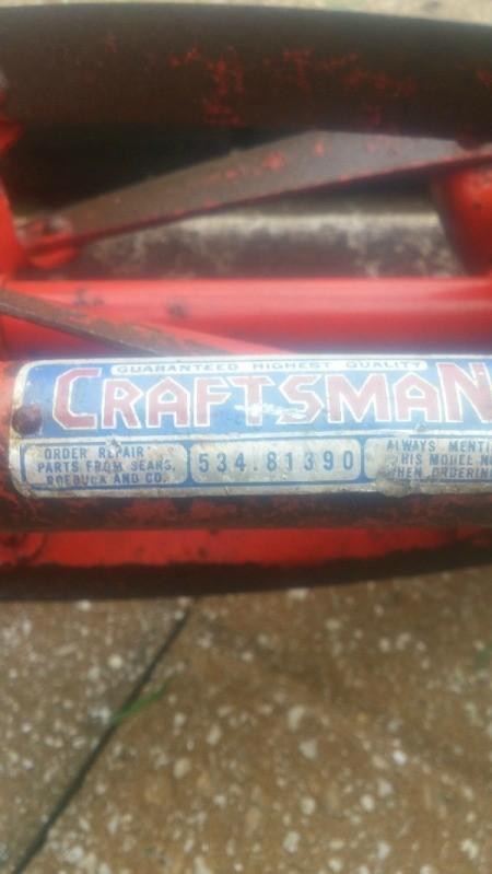 Age of Craftsman Reel Mower