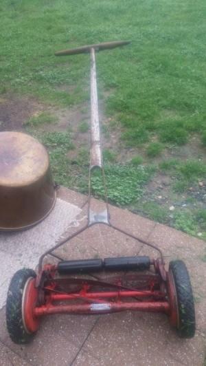 Age of Craftsman Reel Mower - red push reel mower