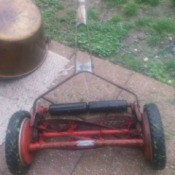 Age of Craftsman Reel Mower - red push reel mower